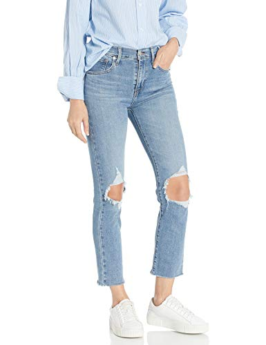 Levi's Women's 724 High Rise Straight Crop Jeans, Good Measure, 29 (US 8)
