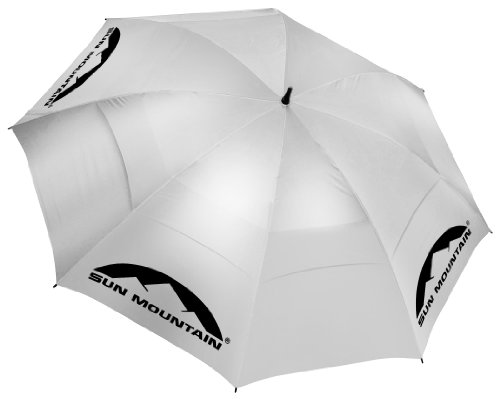Sun Mountain Golf Manual UV Umbrella - Silver