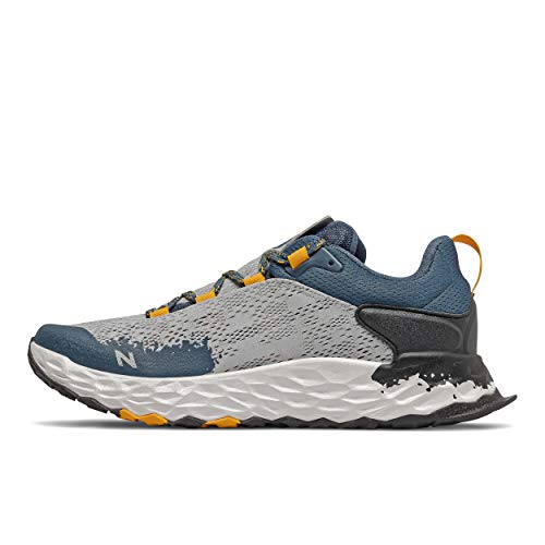 New Balance Men's Fresh Foam Hierro V5 Trail Running Shoe, Light Aluminum/Chromatic Yellow, 11 W US