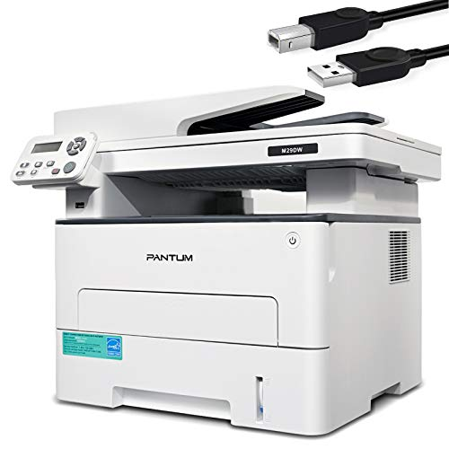 Pantum Multifunction (Print Copy Scan) Monochrome Laser Printer with Wireless Duplex Two-SidedPrinting, Networking & USB 2.0(33PPM, M29DW-W5M23A)