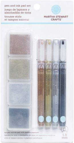 Martha Stewart Crafts Ink Pad and Pen Combo Set