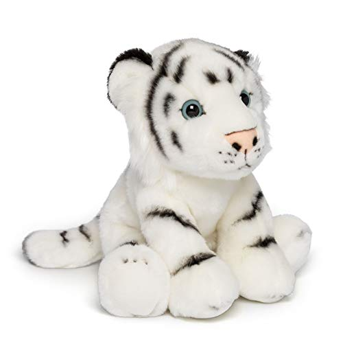 Wildlife Tree 12 Inch Stuffed White Tiger Plush Floppy Animal Kingdom Collection