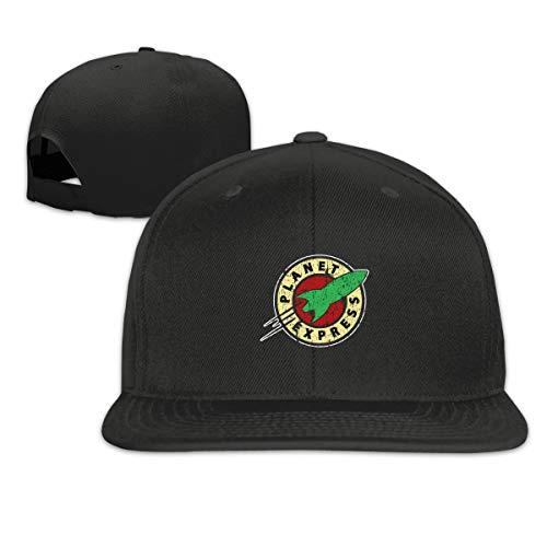 Winsle Unisex Adjustable Printed Baseball Cap Planet Express Trend Hip Hop Hat Black