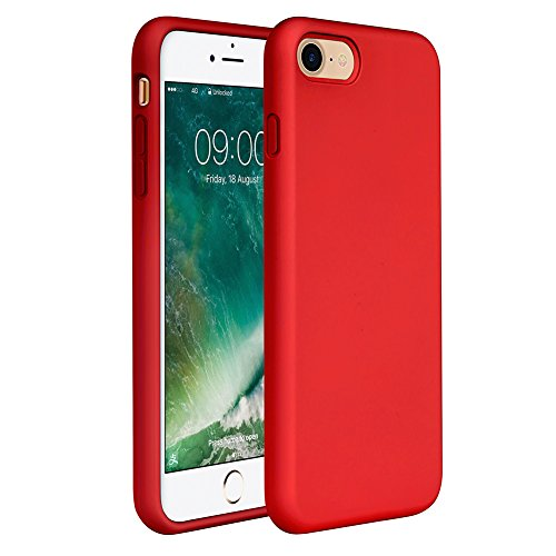 Miracase iPhone SE 2020 Case,iPhone 8 case,iPhone 7 Silicone Case Gel Rubber Full Body Protection Cover Case Drop Protection for Apple iPhone SE 2020/ iPhone 8/ iPhone 7(4.7')(Red)