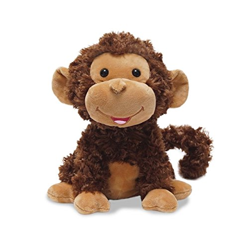 """Cuddle Barn Crackin' Up Coco Monkey Animated Musical Plush Toy, 10"""" Super Soft Cuddly Stuffed Animal will Have your Child Cracking up at its Fun Movement, Contagious Laughter and Funny Monkey Noises"""