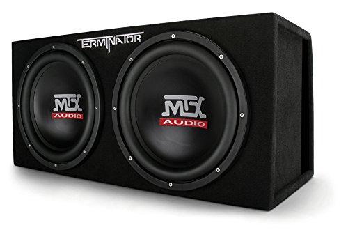 MTX Audio TNE212DV Dual 12' Subwoofer Vented Enclosure, Black