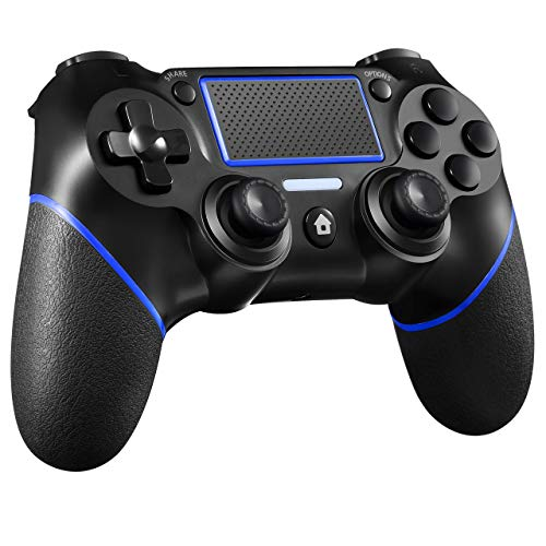 ORDA Gaming Controller Wireless Gamepad Compatible with PC and Laptop with Motion Motors and Audio Function, Mini LED Indicator, USB Cable and Anti-Slip - Blue