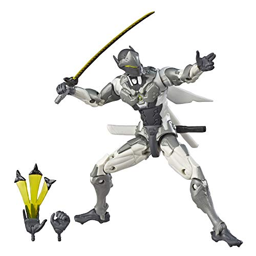 Overwatch Ultimates Series Genji (Chrome) Skin 6'-Scale Collectible Action Figure with Accessories - Blizzard Video Game Character (Amazon Exclusive)