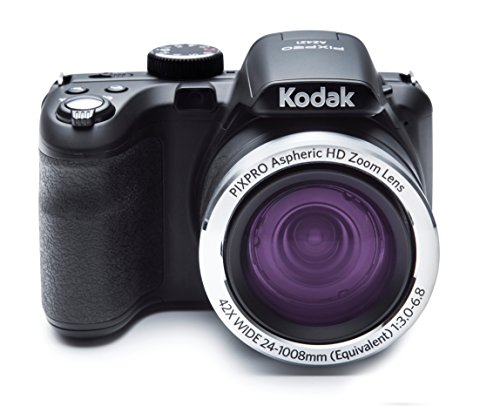 Kodak PIXPRO Astro Zoom AZ421-BK 16MP Digital Camera with 42X Optical Zoom and 3' LCD Screen (Black)