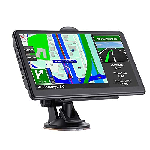 GPS Navigation for Car, 2021 Maps with Free Lifetime Update, Driver Alerts Latest Map Touchscreen 7 Inch 8G 256M Navigation System with Voice Guidance and Speed Camera Warning,