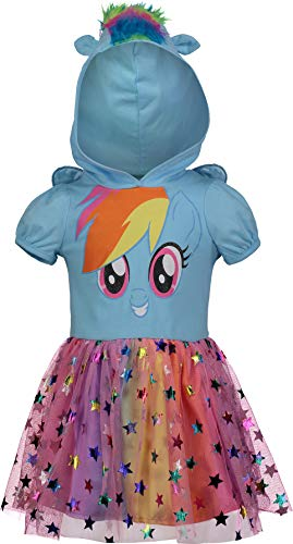 My Little Pony Rainbow Dash Toddler Girls Costume Dress with Hood and Wings 2T