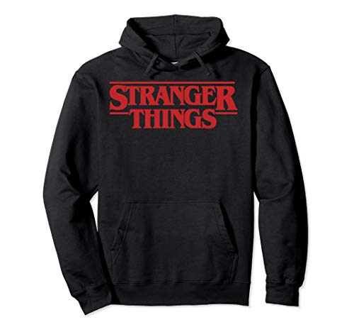 Netflix Stranger Things Simple Red Logo Pullover Hoodie
