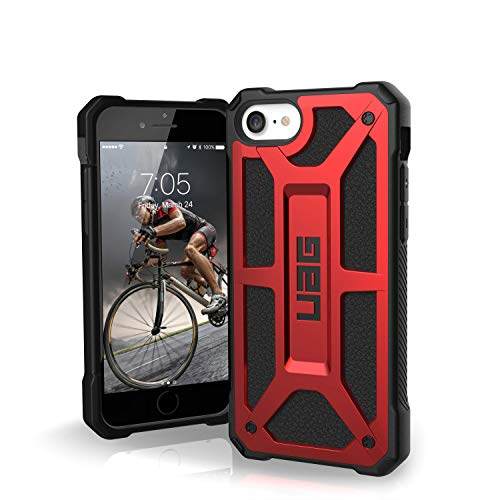 URBAN ARMOR GEAR UAG Designed for iPhone SE 2020 Case Monarch [Crimson] Rugged Shockproof Military Drop Tested Protective Cover