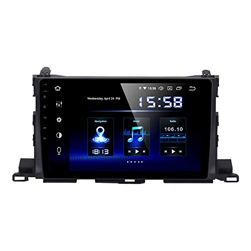 Dasaita 10.2 inch Touch Screen 1din Android 10.0 Car HeadUnit for Toyota Highlander Radio GPS DSP System 4G Ram 64G ROM Stereo Bluetooth 5.0 15Band EQ Navigation Multimedia