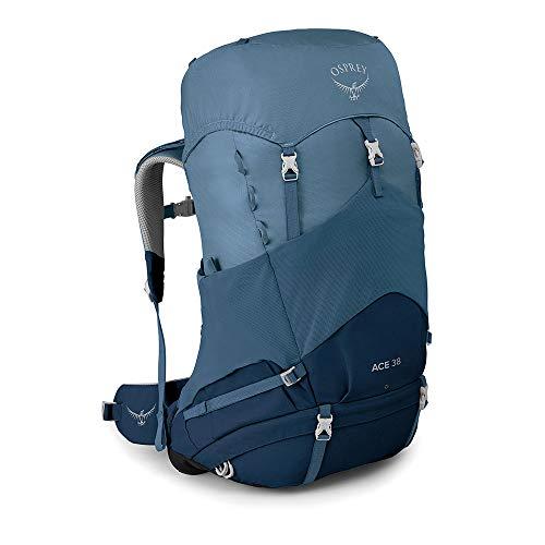 Osprey Ace 38 Kid's Backpacking Backpack, Blue Hills, O/S