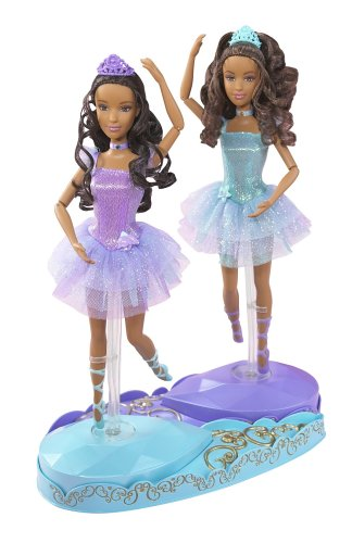 Barbie in the 12 Dancing Princesses Princess Isla and Princess Hadley Dolls African American