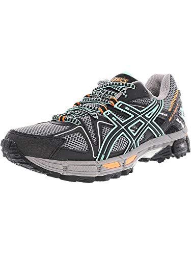 ASICS Women's Gel-Kahana 8 Running Shoe, Black/Ice Green/Hot Orange, 7 Medium US