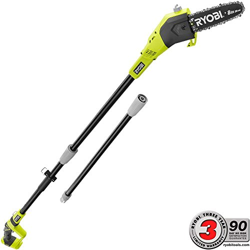 RYOBI P4360BTL ONE+ 8 in. 18-Volt Lithium-Ion Battery Pole Saw (Tool Only)