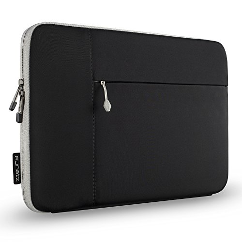 Runetz Sleeve for MacBook Pro 15 inch Sleeve Neoprene Case for A1990, A1707, A1398 with Accessory Pocket Cover 2019 2018 2017 2016, Laptop Sleeve 15 inch, Black