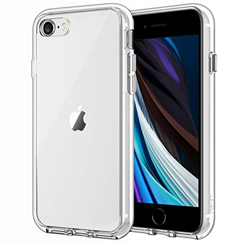 JETech Case for iPhone SE 2020 2nd Generation, iPhone 8 and iPhone 7, 4.7-Inch, Shockproof Bumper Cover, Anti-Scratch Clear Back, HD Clear