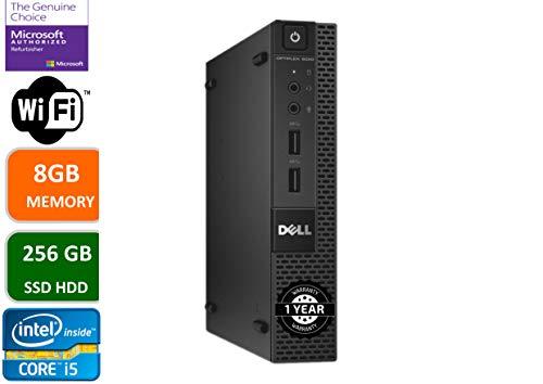Dell Optiplex 9020 Ultra Small Tiny Desktop Micro Computer PC (Intel Core i5-4590T, 8GB Ram, 256GB Solid State SSD, WiFi, Bluetooth, Win 10 Pro (Renewed)