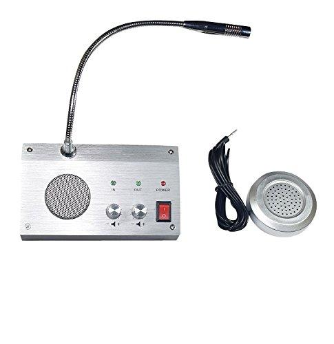Bank Counter Window Intercom System Dual-way Intercommunication Microphone Interphone Speaker System 3W