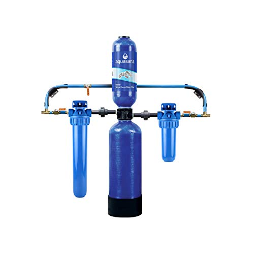 Aquasana Whole House Water Filter System - Filters Sediment & 97% Of Chlorine - Carbon & KDF Home Water Filtration - EQ-1000, 10 Yr, 1 Million Gl
