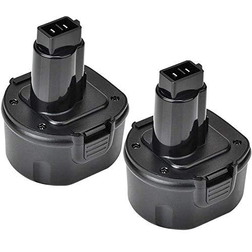 2 Pack 3600mAh DW9062 Ni-Mh Replacement for Dewalt 9.6V Battery Compatible with Dewalt DW9061 DW926 DC750KA DW955K DW955 DW926K-2 DW926K DW902 DW050 DE9062 DE9061 DE9036 Cordless Power Tool