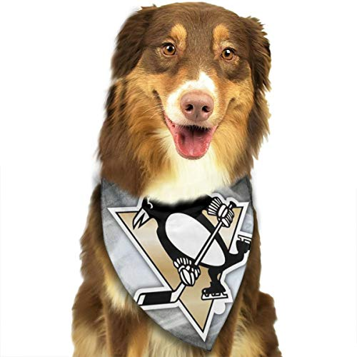 Empty Pittsburgh Logo Penguins Printing Pet Drool Towel Dog Bandanas Triangle Bibs Dog Kerchief Set Scarfs Fashion Accessories for Small and Large Dogs Cats