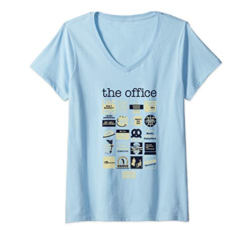 Womens The Office Quote Mash-Up V-Neck T-Shirt