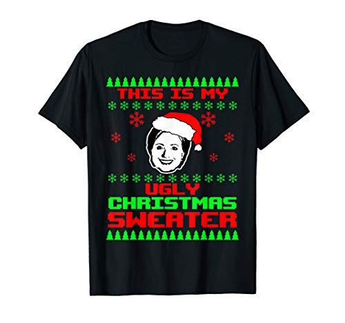 Ugly Christmas Hillary Clinton Funny Gag Gift Lock Up Her T-Shirt