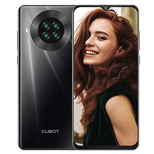 Unlocked Cell Phones(8GB/128GB), CUBOT Note 20 Pro Smartphones, 6.5' HD+ Display, Quad Camera, 4200mAh Battery, Android 10, Dual SIM 4G Budget Phone, US Version, Black
