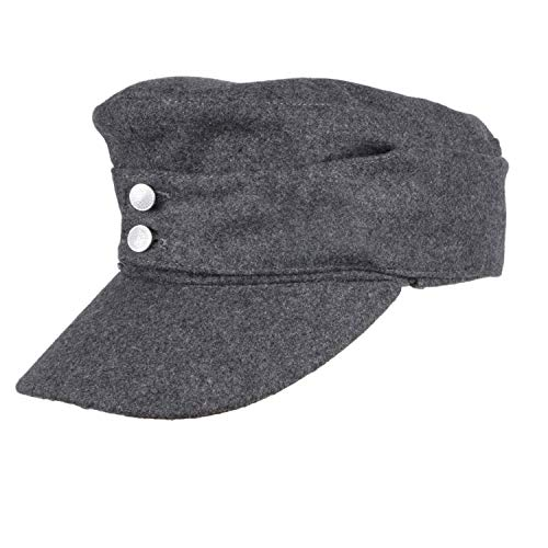 loklode WWII German Army EM Panzer M43 M1943 Field Wool Cap Grey in Sizes (L)