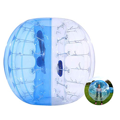 ThinkMax Bumper Ball for Kids and Adults, 4FT / 5FT Inflatable Bubble Soccer Ball, Human Hamster Ball Body Zorb Ball (Blue, 4FT)
