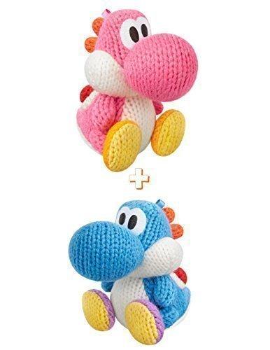 Light Blue and Pink Yarn Yoshi Amiibo (Bundle) by Nintendo