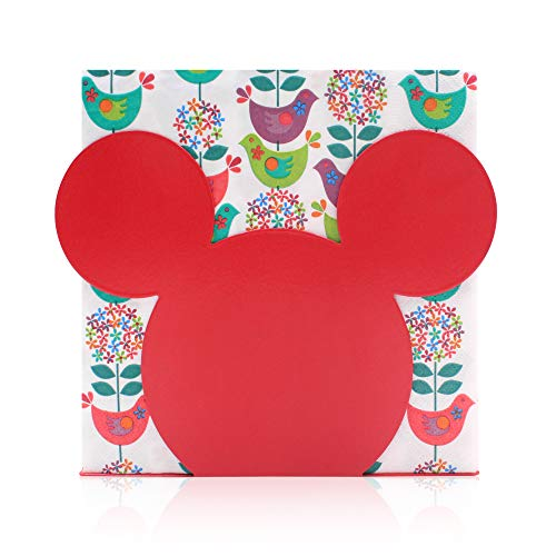 Finex Mickey Mouse Head Stainless Steel Napkin Holder Stand for kitchen table party (Red)