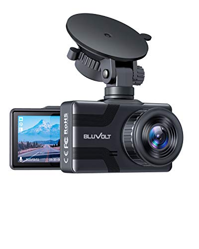 Dash Cam 1080P FHD BluVolt Built-in Battery Car Camera 170° Wide-Angle Dash Camera for Cars 2.7 Inch LCD Screen, WDR, G-Sensor, Loop Recording, Motion Detection, Support 128GB MAX