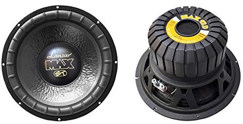2) LANZAR MAX12D 12' 2000W Car Audio Subwoofers Subs Power Woofers DVC 4 Ohm