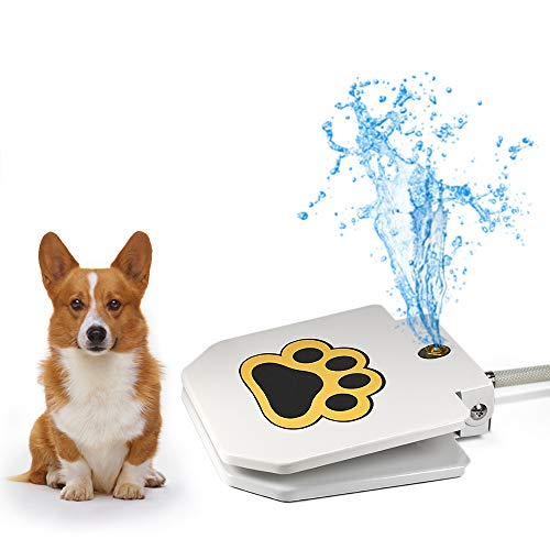 Videosystem Outdoor Dog Drinking Water Fountain Step On,Easy Paw Activated Drinking Pet Dispenser,Fresh Water,Sturdy,Easy to Use,Providing Constant Stream,Y Splitter Included