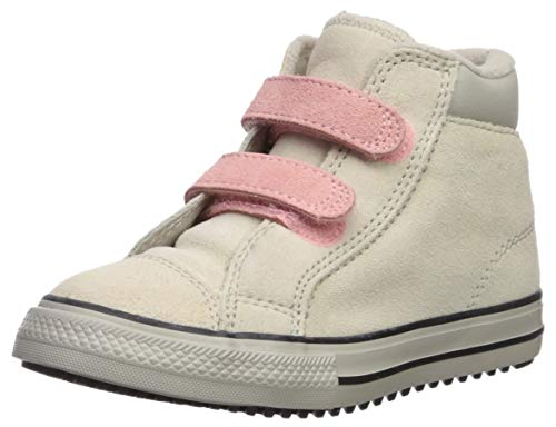 Converse Baby-Girl's Chuck Taylor All Star 2V Pc Boots On Mars Sneaker, Natural Ivory/Coastal Pink, 10 M US Toddler