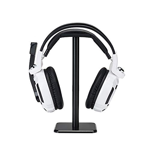 Headphone Stand Hanger,Universal Aluminum Metal Headphone Holder for AirPods Max,HyperX Cloud II,Xbox One,Turtle Beach,Sennheiser,Sony,Bose,Beats PC Gaming Headset Display&Wireless Headphone(Black)