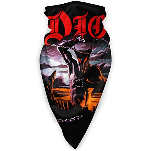 Dio Ronnie James Dio Holy Diver Windproof Breathable Face Cover Unisex Anti Dust Mouth Cover Multifunction Face Cover Balaclava Sports Mask Sun UV Protection Face Guard Black