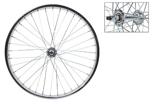 Wheel Master 20' x 1.75 Front Bicycle Wheel, 36H, Steel, Bolt On, Silver