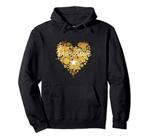 I Love Hamilton Heart | Gift for Teenage Girl Women Pullover Hoodie
