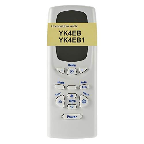 Replacement for GE Air Conditioner Remote Control YK4EB1 works for AEZ08LT AEZ08LTQ1 AEZ08LV AEZ08LVQ1 AEZ10AV AEZ10AVL1 AEZ12AV AEZ12AVL1 AJEQ06LCF AJEQ06LCFL1