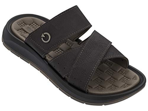 Cartago Sandals Santorini V Slide, Brown Size 12