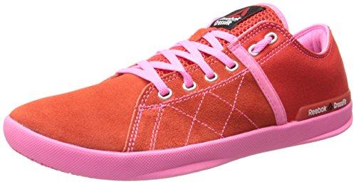 Reebok Women's Crossfit lite lo tr-w, China Red/Electro Pink/Steel, 10 M US