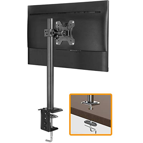 ErGear Monitor Mount for 13-32' Computer Screens, Improved LCD/LED Monitor Riser, Height/Angle Adjustable Single Desk Mount Stand,Holds up to 17.6lbs, Black - EGCM12