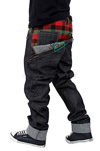 Brooklyn Mint Front to Back Red Tartan Straight Fit Jeans