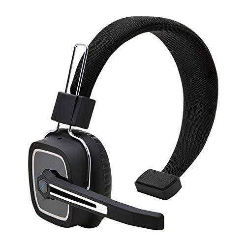 Truck Driver Bluetooth Headset/Office Headset with Microphone, BT 5.0 Wireless Over The Head Headset with Extra Boom Mic for Trucker,Truck Driver, Phones,Call Center, Skype, VoIP